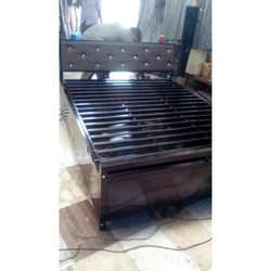Metal Hydraulic Bed With Storage Powder Coated
