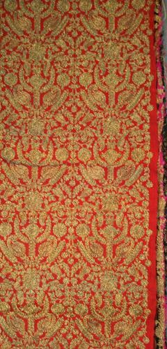 Golden Zari Embroidered All Over Fabrics