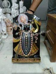 Black Stone Statue Shrinath Ji