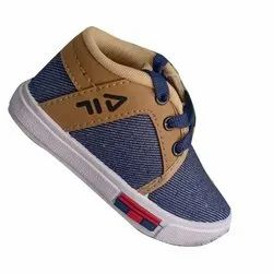 Canvas Flat Kids Shoes, Size: 0-4