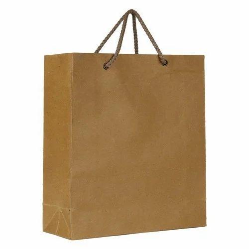 Brown Kraft Paper Plain Ping Bags