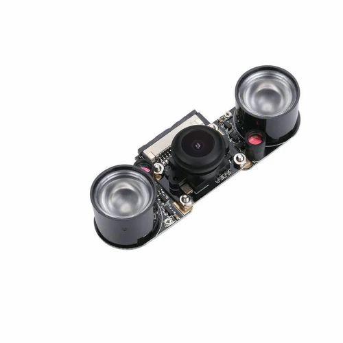 Rees52 Raspberry Pi 3 Model B Plus Camera Fisheye Wide Angle 5mp 1080p  Night Vision Camera Module Fo