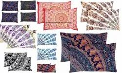 Printed Mandala Cases Indian Cushion Cover Cotton Pillow, Size/Dimension: 28 X 18