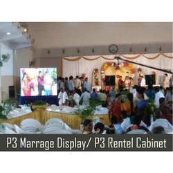 Mild Steel Rectangle P3 Marriage Display Cabinet Rental Service