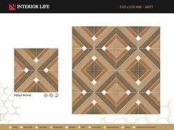 InteriorLife Porcelain Ceramic Floor Tiles, Thickness: 5-10 mm, 16