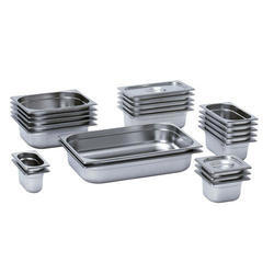 Silver Stainless Steel GN Pan, Usage/Application: Home/Hotel/Restaurant