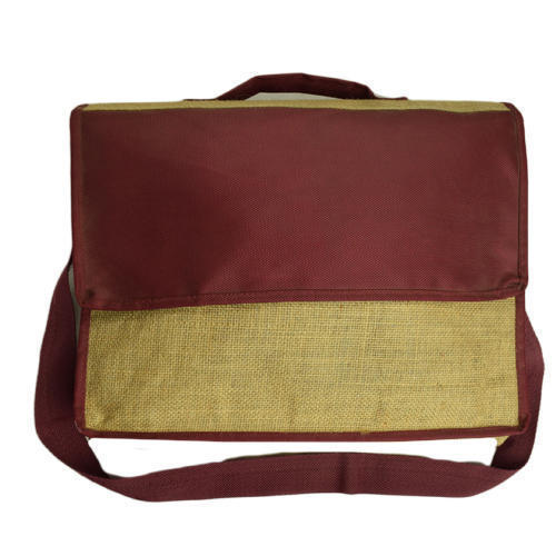 Jute Office Sling Bag at Rs 120 /piece | Jute Office Bags | ID ...