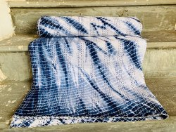 White and Blue Cotton Kantha Bed Covers