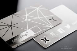 Metal business card at best price in india stainless steel business card reheart Images