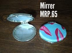 Glass And Aluminum Round Shape Mirror, Thickness: 8 Mm