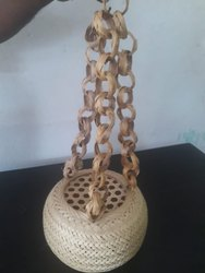 Handmade Bamboo Round Hanging Lamp for Decoration