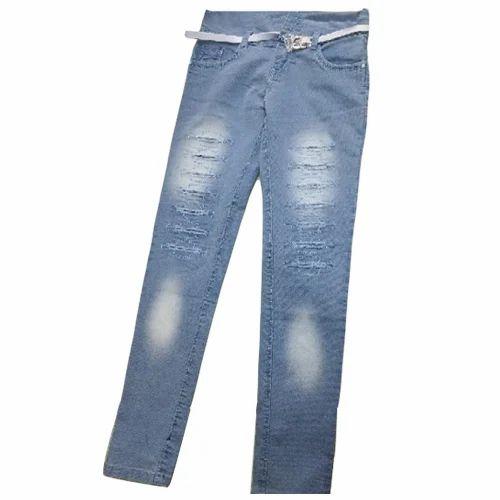 6895adda9 Club 108 Denim Kids Blue Ripped Jeans, Rs 250 /piece, Paras Traders ...