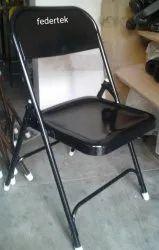 Federtek Solid Iron Folding Chair, Size: Center Height After Open 32
