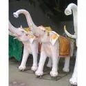 Fiber Elephant Statue, Size/dimension: 3feet High
