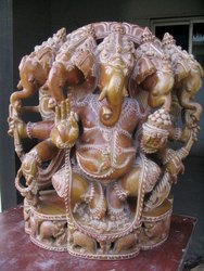 5 Head Ganesha Statue