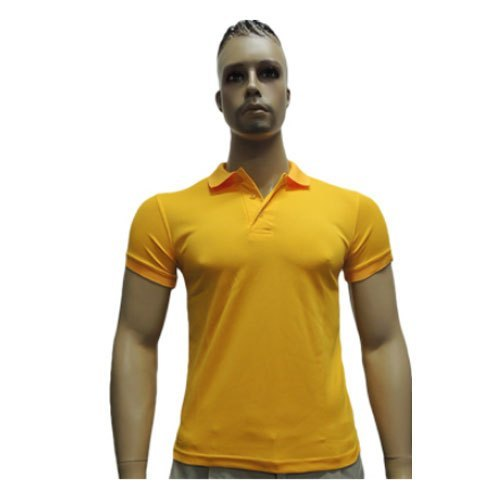 100% Polyester Half Sleeves Dry Fit Polo T-Shirt, Packaging Type: Plastic Poly Bag