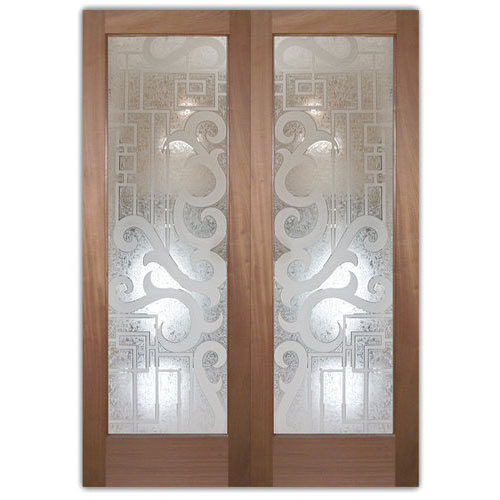 Door Etching Glass White 6mm