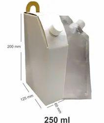Rectangular White Corrugated Tea Flask, Size: 250 Ml