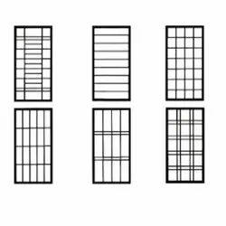 Mild Steel Brown Designer Windows for Residental