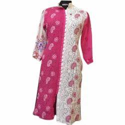Apparese Georgette Ladies Lucknowi Chikan Kurti