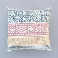 Multi Color Hand Made Cotton Block Print Home Decor Boho Decorative Car Sofa Cushion Cover