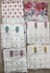 Ladies Cotton Chikan Suits