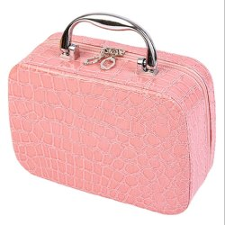 Cosmetic Bag with Mirror Travel Organizer