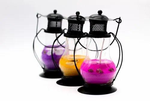 Glass Handmade AuraDecor Hanging Gel Lantern, Battery Type: Manual, Size: 4 Inch