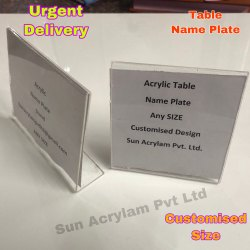 Acrylic Table Name Plate