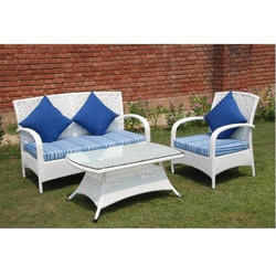 Garden Wicker Patio Furniture Sectional Conversation Set