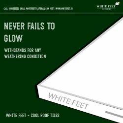 Heat Reflective Ceramic Tile - White Feet Tile - Silverplus