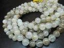 Golden Rutilated Round Plain Beads