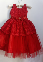 Net Red Party Wear Gown