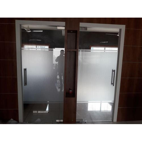 Plain Glass Office Door Film 12 Mm Rs 55 Square Feet Om Sainath