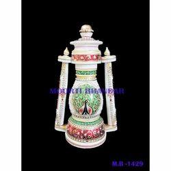 Handicraft White Makrana Marble Lalten