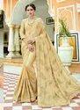 Lucknowi Work Wedding Wear Crepe Saree