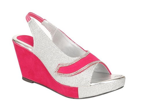 3521507d171 Royal Indian Exposures Pink Fancy Party Wear Wedges Heels For Women ...