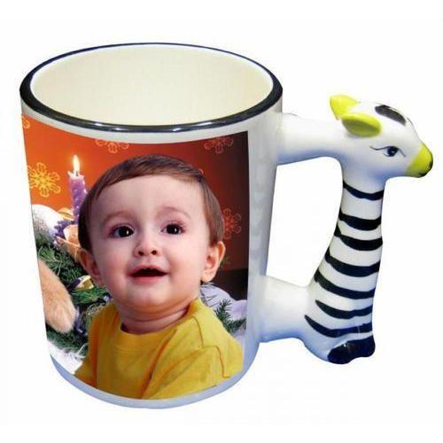 White Ceramic Animal Handle Coffee Mug for Home