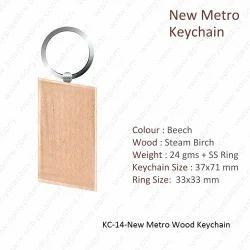 Wooden Keychain-KC-14-New Metro Keychain