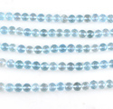 Sky Blue Topaz Round Faceted Beads