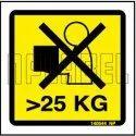 140544 Max Weight 25 Kg Instruction Sticker