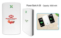 White Electric Power Bank 4000mah, for Mobile Charging