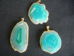 Agate Slice Gemstone Pendant