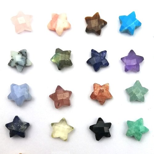 Semi Precious Gemstone Faceted Star