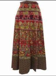 Pure Cotton Rajasthani Wrap Skirt
