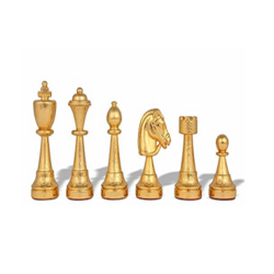 Brass Chess With Gold Work