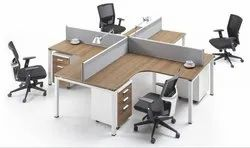 Plywood Corporate Modular Workstation