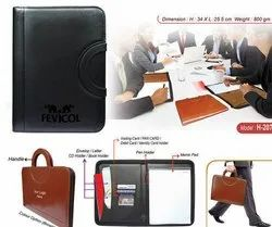 Zipper Leather Conference Folder, For Office, Paper Size: A4