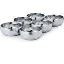 Silver Lining Stainless Steel Designer Red Coloured Bowls