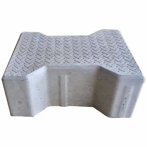 Grey 80 mm Dumble Paver Block